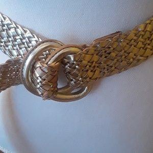 J. Crew Accessories - JCrew braided golden adjustable belt